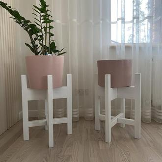 Подставки деревянные для цветов, вазонов и растений
