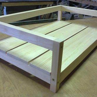 Деревянный лежак / кроватка для домашнего питомца