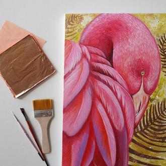 Картина с птицей на заказ / Птица маслом или акрилом по фото