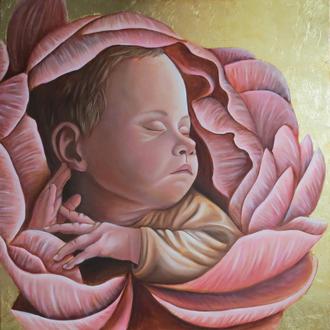 Детский портрет по фото / Портрет на заказ новорожденного ребенка