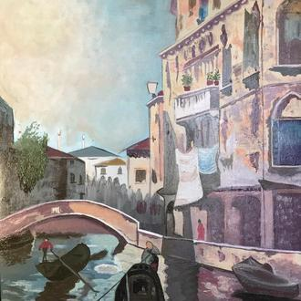"Картина копия ""Venice-Rio Santa Sofia"""