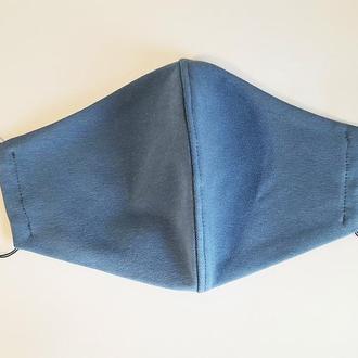Маска трикотажная с кармашком для фильтра цвета джинса