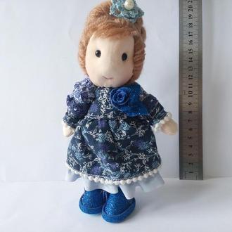 Текстильная интерьерная кукла Лидия