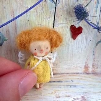 Карманный ангел из дерева (4 см)