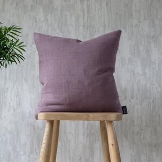Декоративные подушки с льняным чехлом, подушки на диван