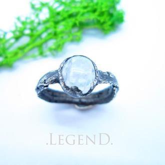 Кольцо,лунний камень