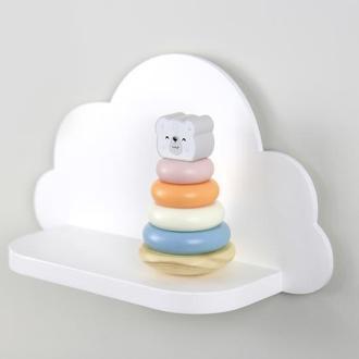 Полка Облачко, декор для детской, полочка для игрушек, настенная полка в детскую