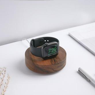 Деревянная подставка для Apple Watch, зарядная станция