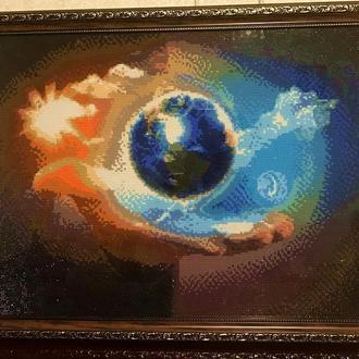 Картина, алмазна вишивка - Планета Земля