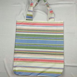 Экосумка минимализм, шоппер, екосумка київ, эко-сумка хлопковая киев, авоська, шоппер радуга