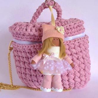 Брелок кукла Женский аксессуар на сумочку или ключи