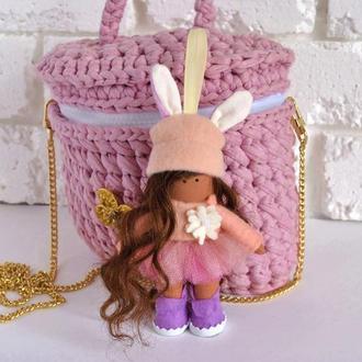 Женский брелок кукла Украшение для сумочки, ключей Брелок на зеркало заднего вида