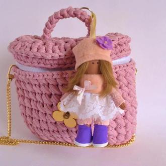 Стильный женский брелок кукла Украшение на сумку или на зеркало заднего вида авто