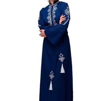 """Сукня вишиванка """"Роксоляна"""" синя"""