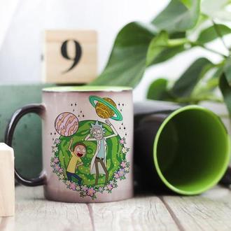 Чашка хамелеон Рик и Морти