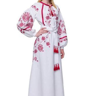 Сукня вишиванка Громовиця бордо