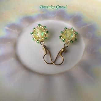 Серьги серебро 925 украшение серебряные сережки dzvinka guzul тренд аметист цитрин рубин подарок