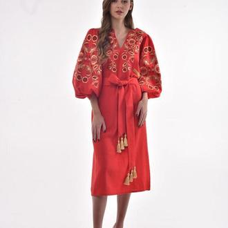 Сукня вишита «Знахідка» червона