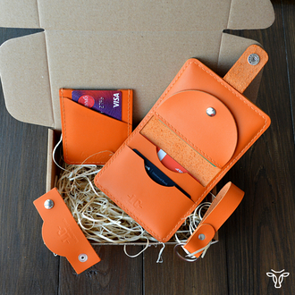 Подарунковий бокс з чотирьох предметів помаранчевого кольору