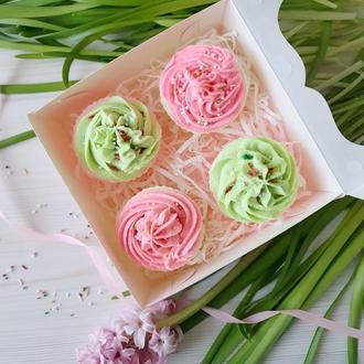 🧁🌺🧁 Набор кексиков с кремом - Оригинальный подарок для мамы, подруги, жены, сестры