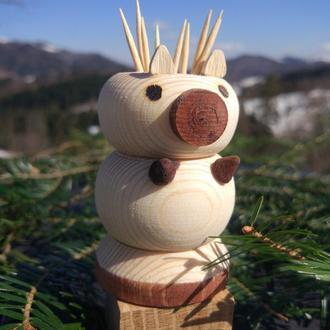 Подставка для зубочисток в виде фигурки животного Свинья