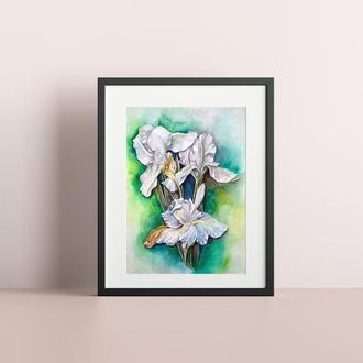 Постер интерьерный; акварельный постер; картина в детскую; принт акварельный, ботанический постер