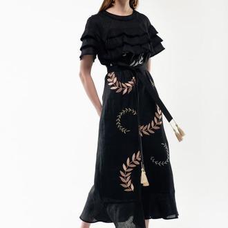 Сукня вишиванка Панночка чорна
