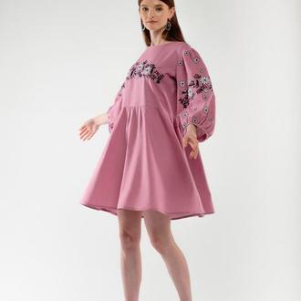 Сукня вишиванка Зозулька пудра