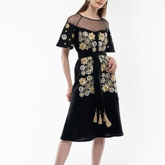 Сукня вишиванка Ягідка чорна