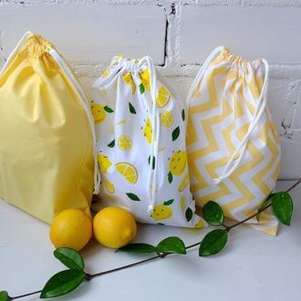 Эко мешочки 3 шт, эко торбочка, эко пакет для продуктов, хранения