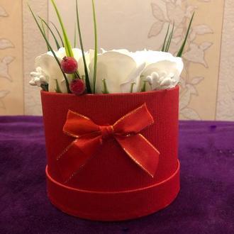 Букет из 7 мыльных роз
