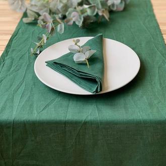Льняная дорожка на стол Скатерть Ранер Декор для стола