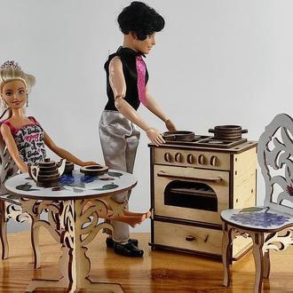 Кухонная плита для кукол. Мебель для кукольного домика. Мебель для кукол Барби