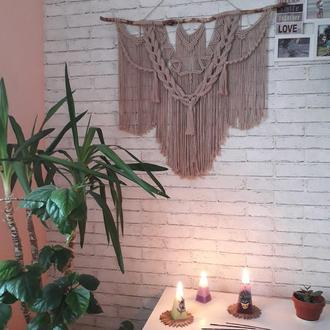 Макраме панно, гобелен, декор для стены, панно на стену, бохо интерьер