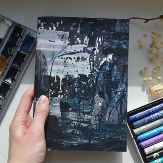 """Скетчбук А5 з білим папером. Авторська ілюстрація """"Портрет дівчини №3"""""""