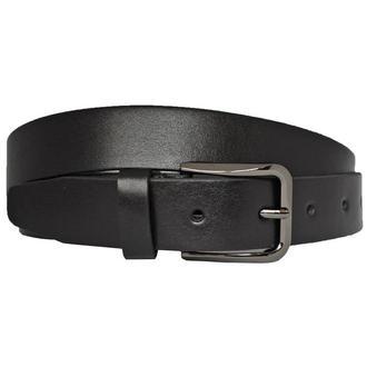 Ремень кожаный мужской брючный черный классический Classic33