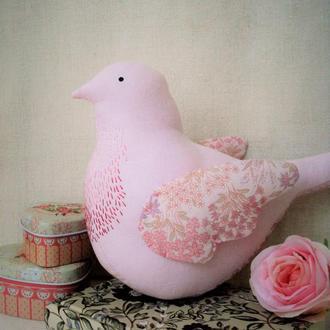 Пташка з вишивкою, авторська іграшка