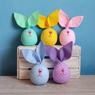 Набор пасхальных яйц. Весенний  декор. Пасхальный кролик. Подарок на Пасху.