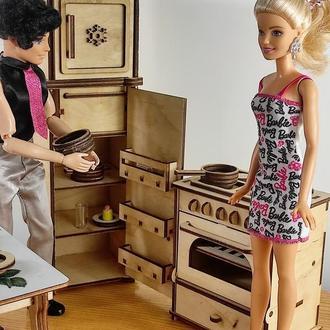 Холодильник для кукол. Мебель для кукол и кукольного домика