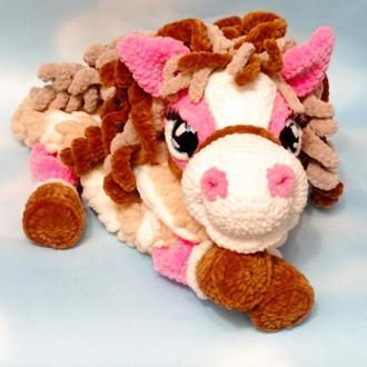 Пижамница лошадка-улыбашка. Игрушка для сна