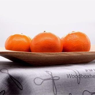 Деревянное блюдо для подачи фруктов/завтрака