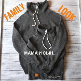 Свитер вязаный family look