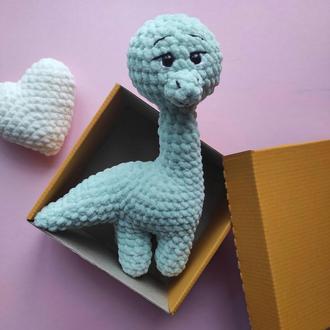Плюшевый динозаврик. Вязаные игрушки крючком