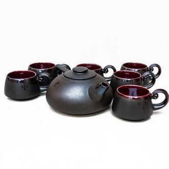Чайний набір Великий на 6 осіб чорний