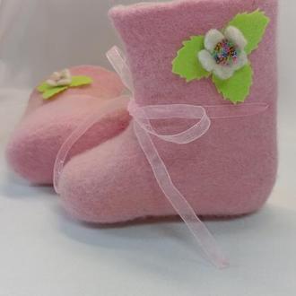 Валяные носочки-пинеточки
