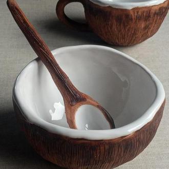Кокос. Керамічний кокос. Сервіз