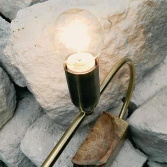"""Настольный светильник из дерева """"Вековые кольца"""""""
