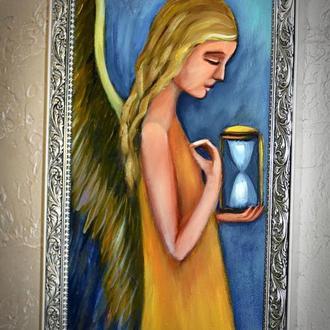 Час ангела, картина розмір 20х40см