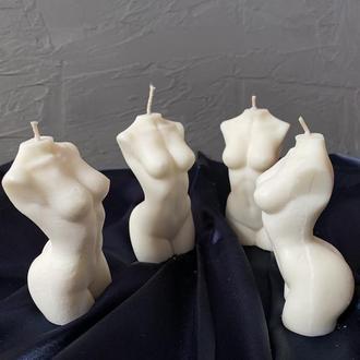 Свеча женский торс. Соевая свеча 9 см