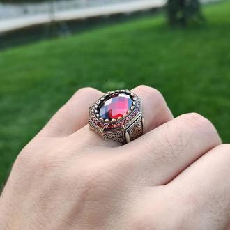 Перстень мужской серебряный винтажный уникальный необычный красивый